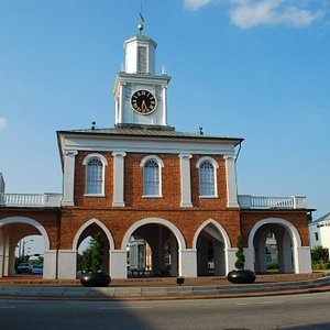 The historic Market Place in the center of downtown Fayetteville