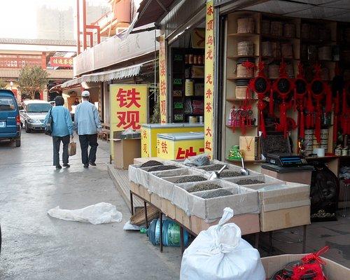 Maze of tea shops