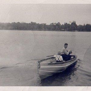 Me & Dad on the Lake up in Rhinelander, WI. c.1955.