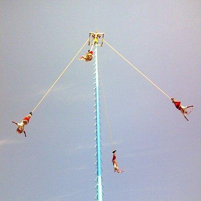 Mexico, Veracruz. Voladores de Papantla  en el Tajin 5