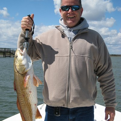 Gary with a 12 lb red fish