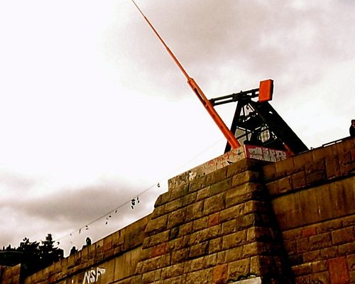 """This metronome """"sculpture"""" took the place of the giant Stalin statue after the fall of communism"""