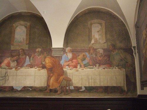 フランチャビージョ作「最後の晩餐」拡大図