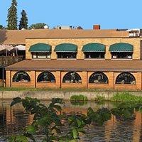LaCantina restaurant taken from old wooden walk bridge