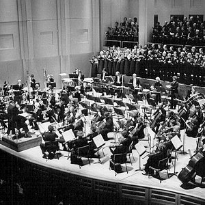 Dedication of the Schnitzer Hall in 1984 James dePriest conducting the OSO & the PSC