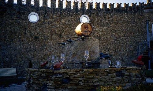 una fontana di Spumante