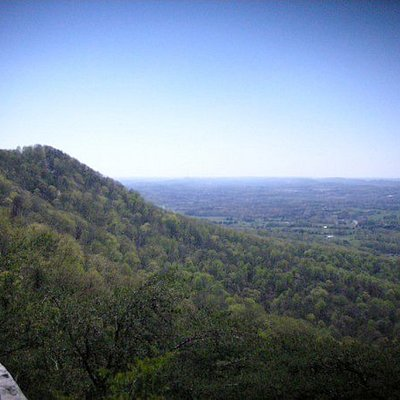View from the rock outcrop on the eastern end of the Summit Trail