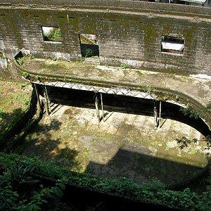 上から見た廃墟内部