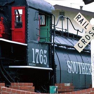 Steam engine at the Lomita RR Museum