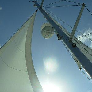 Photo taken of the sail while cruising