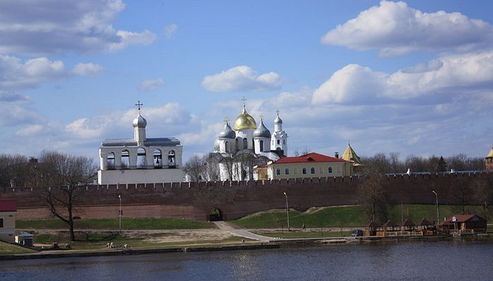 The view of part of the Novgorod Kremilin