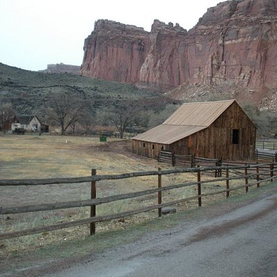 An old abandon barn in a ghost town in the Park.