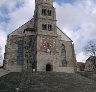 the church and steps