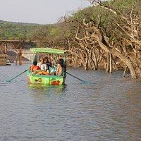 Row a boat with the family at Venna Lake