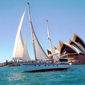 """Harnessing the wind for propulsion aboard charter yacht """"Sydney Sundancer"""" must be the world's m"""