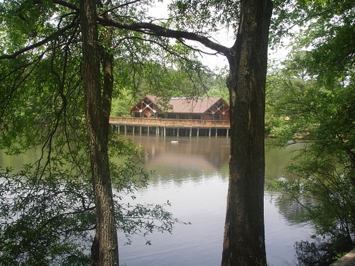 View of Nature Center from trail