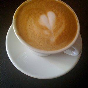 Latte art after arriving home