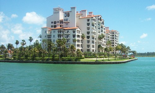 Breathtaking view of Fisher Island