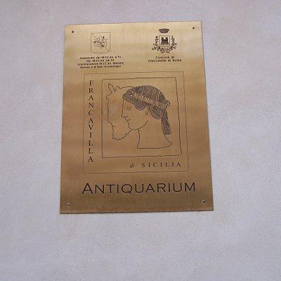 Antiquarium - targa esterna