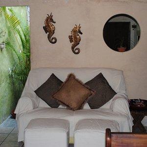 Area before massage area