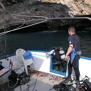 Inizio immersione dalla barca