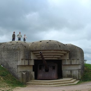 view of the guns