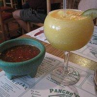 Salsa and mango margarita