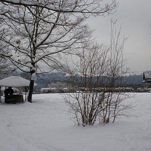 Die Feuerstelle hat auch im Winter geöffnet ;-)