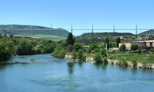 View of viaduct from Millau town