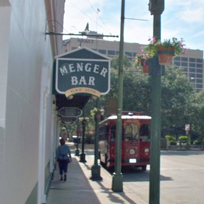 Located on the side of the Menger hotel