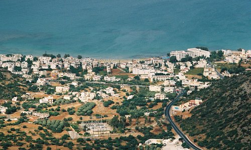 The view of Stalis (Stalida) from the road