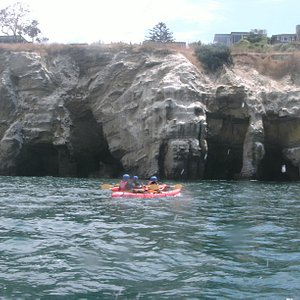 Kayaking near La Jolla Caves