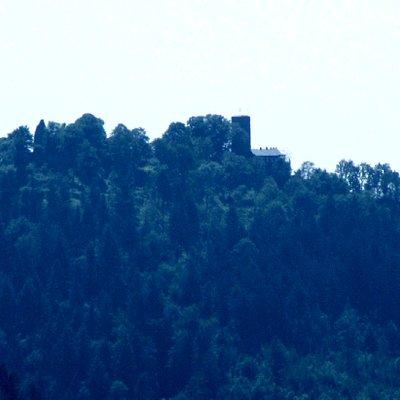 Blick vom Battert auf die Yburg