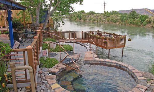 NM's only hot springs on the Rio Grande