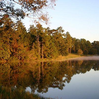 Sunrise on the lake at Hodges Gardens