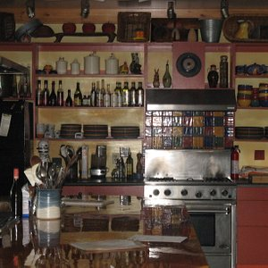 One of the kitchens