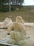 Random sculptures about the quarry