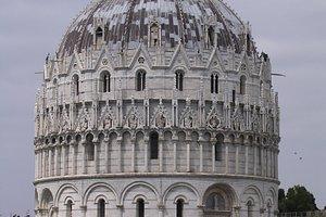 Baptistry building in Pisa