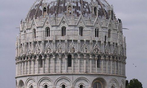 Baptistry building in Pisa