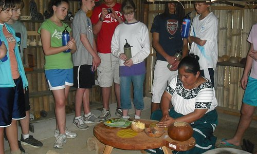 making Mayan Corn Tortilla
