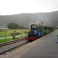 Thomas engine arriving at Llanberis