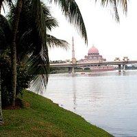 Putra Mosque can be seen afar.
