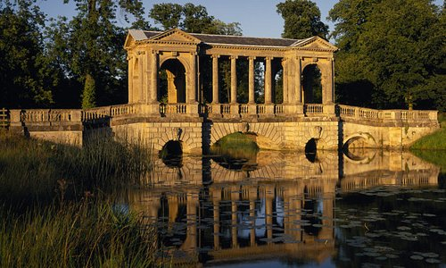 The picturesque Palladian Bridge, one of the around 40 monuments to be seen at Stowe