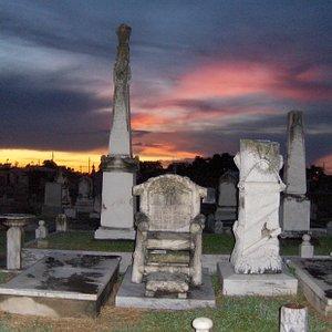 Jewish Cemetary at Sunset