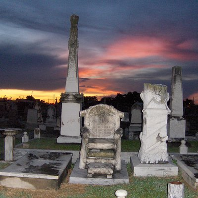 Jewish Cemetary at Sunset