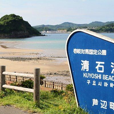 干潮時の清石浜海水浴場