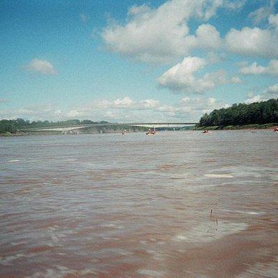 View of Shubenacadie River from the raft