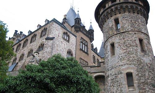 Castle seen from footpath