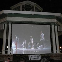 Rehoboth Beach Bandstand set up for Cinema by the Surf