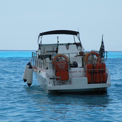 Captain Spiros's speedboat... it's faaast! :)